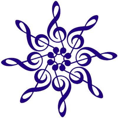 Blue 8 treble clef mandala